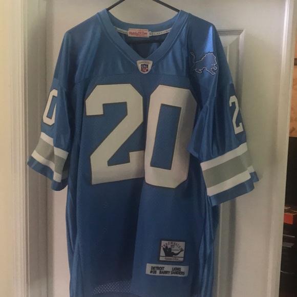 watch 70c4d 9d60a Barry Sanders Detroit Lions jersey